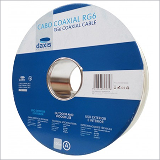 Cabo Coaxial RG6 100 mts